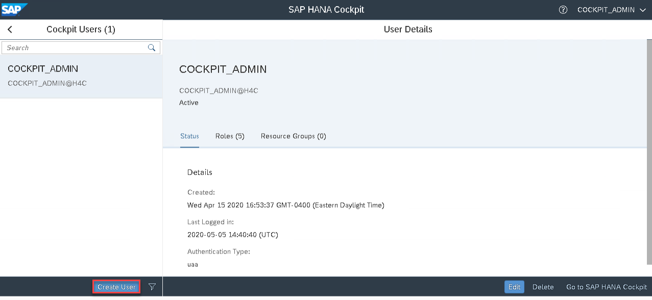 11_user details_Setting up the SAP Hana Cockpit _How to Configure the SAP HANA Cockpit 2.0