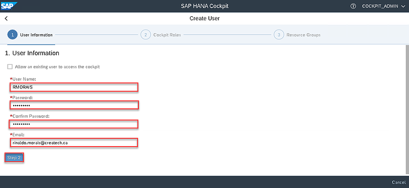 12_Create user_Setting up the SAP Hana Cockpit _How to Configure the SAP HANA Cockpit 2.0