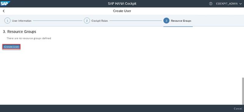 14_create user_Setting up the SAP Hana Cockpit _How to Configure the SAP HANA Cockpit 2.0