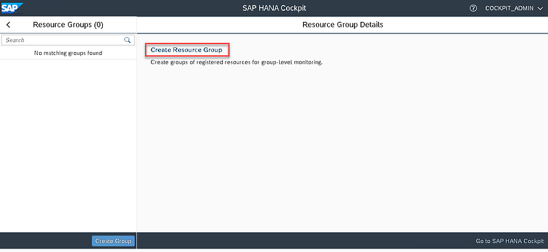 22_create resource groups_Setting up the SAP Hana Cockpit _How to Configure the SAP HANA Cockpit 2.0
