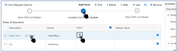23-location lot status update_Creating the Orchestrator_Orchestrator Tutorial by Example and New Features Under 9.2.5.3_Createch
