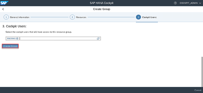 29_create group_Setting up the SAP Hana Cockpit _How to Configure the SAP HANA Cockpit 2.0