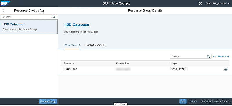 30_resource group details_Setting up the SAP Hana Cockpit _How to Configure the SAP HANA Cockpit 2.0
