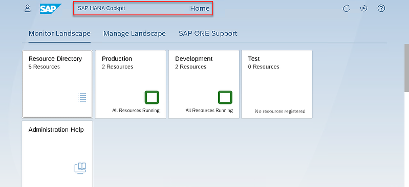 8_Home page_Logging on to the SAP HANA Cockpit_How to Configure the SAP HANA Cockpit 2.0