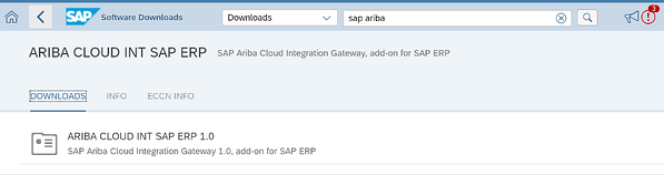 Ariba Cloud Int SAP ERP