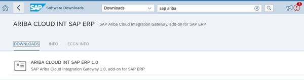 Ariba Cloud Int SAP ERP