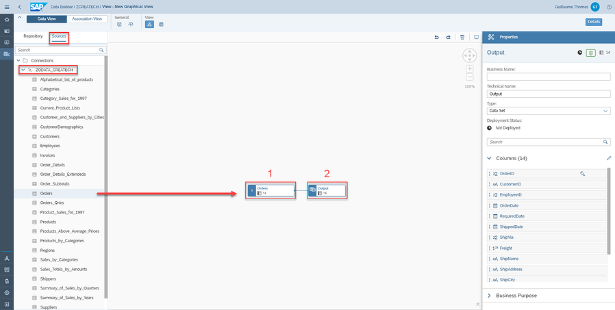 Modeling your data_Orders_Output_Tutorial How to Model Data with SAP Data Warehouse Cloud_Createch