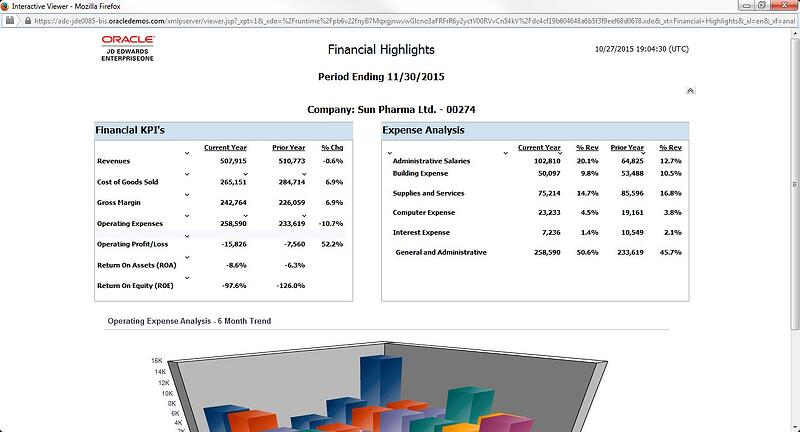 Oracle JD Edwards EnterpriseOne 9.2_OVFS_JDE One View Financial Statements