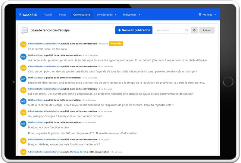 DamaSix_DMS_gestion quotidienne_Module conversation_Createch