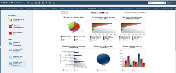 Financial Management Screenshot_Oracle JD Edwards EnterpriseOne ERP_Createch