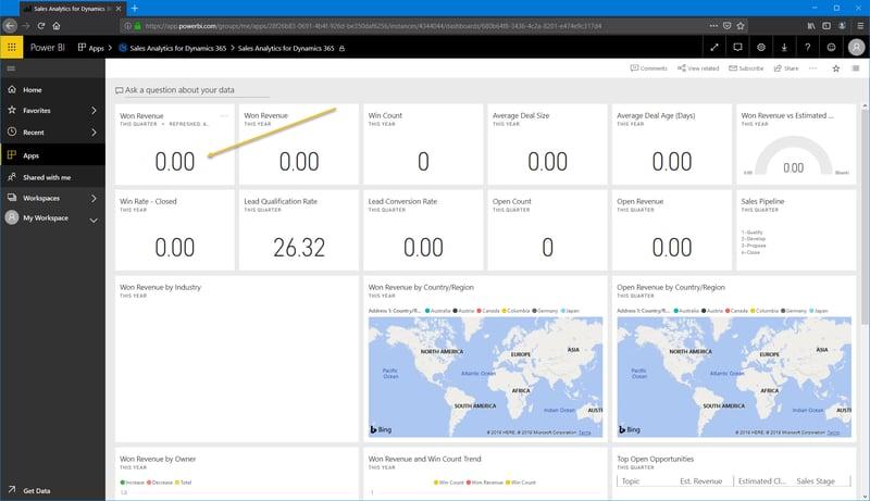 Power BI_Microsoft Dynamics 365 CRM_Dashboard_Createch Montreal Canada