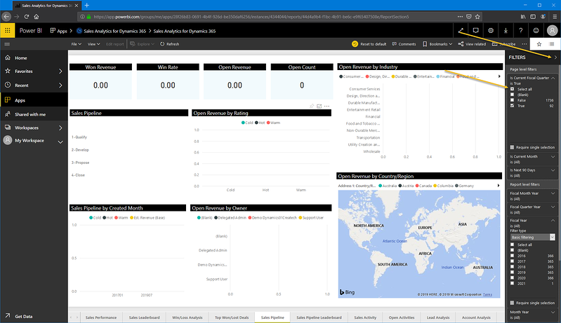 Power BI_Microsoft Dynamics 365 CRM_Fiscal filter_Createch Montreal Canada