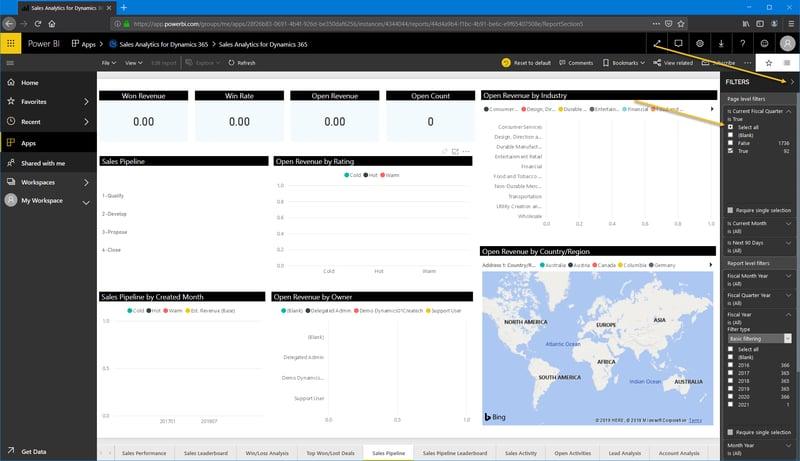 Power BI_Microsoft Dynamics 365 CRM_Fiscal filter_Createch Montreal Canada