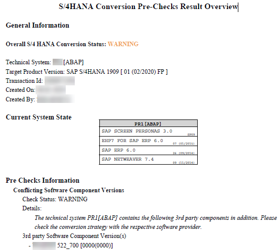 SAP Components_SAP S4HANA_Conversion_Createch