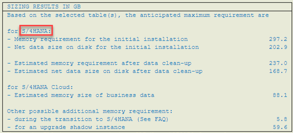 Sizing for Suite on HANA_S4HANA_SAP S4HANA_Conversion_Createch